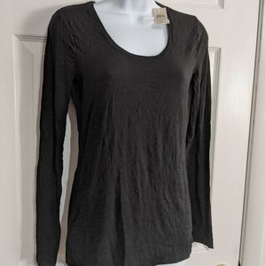 Ann Taylor Scoop Neck Tee Size S NWT